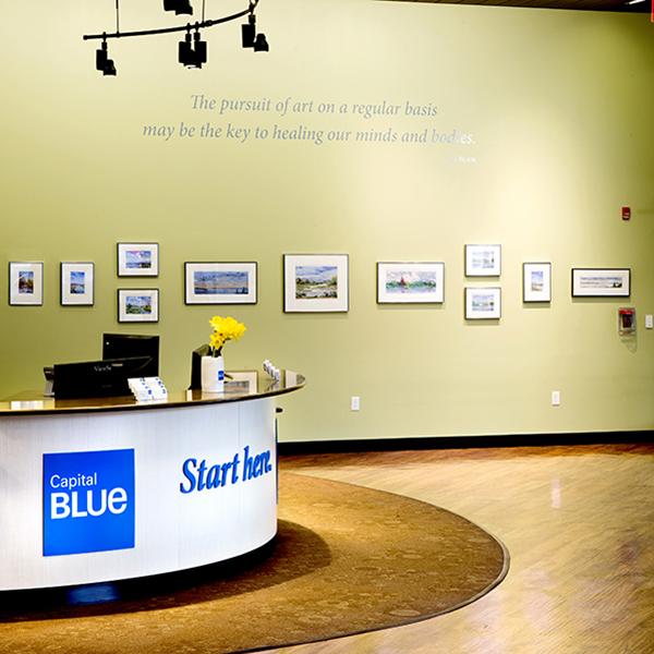 Recepción de la tienda de Capital Blue