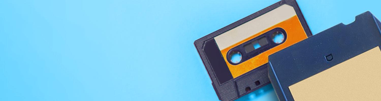 Casete y cinta de 8 pistas