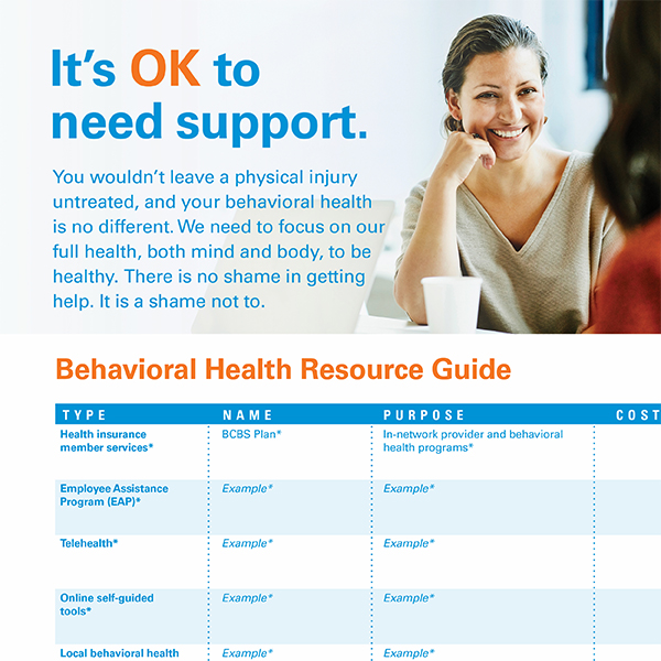 "Woman smiling with text that reads, ""It's ok to need support"""